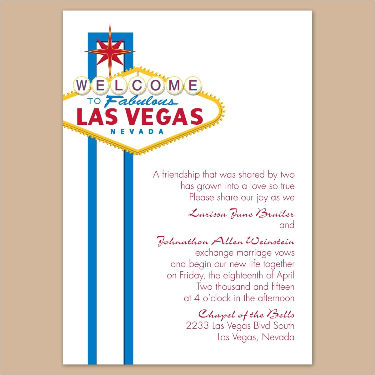 vegas wedding invitations template