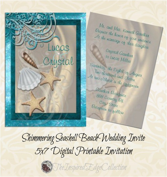 shimmering seashell beach wedding