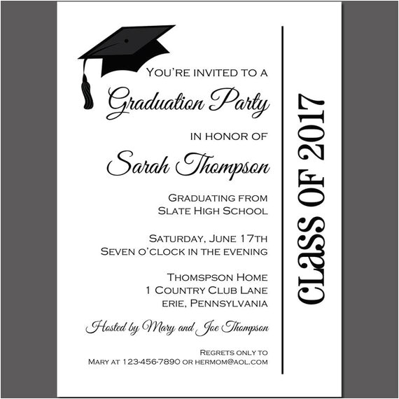 graduation party invitation printable printed free