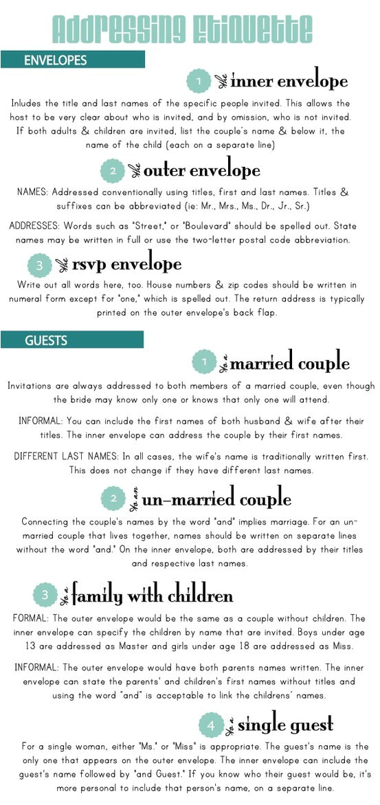 wedding 101 addressing wedding invitations
