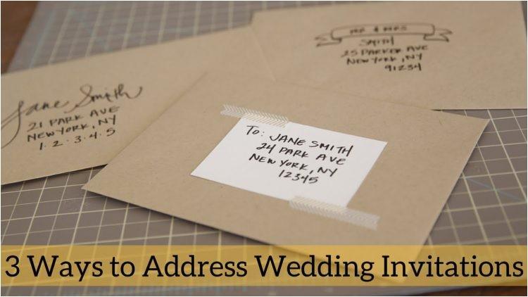 wordings etiquette wedding invitation envelope also addressi