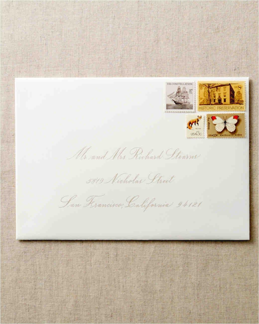 proper way to address wedding invitations new how to address guests on wedding invitation envelopes martha