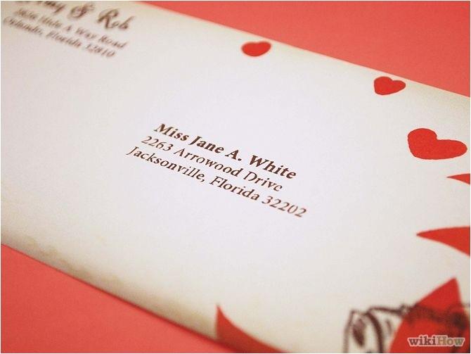 proper way to address wedding invitations template