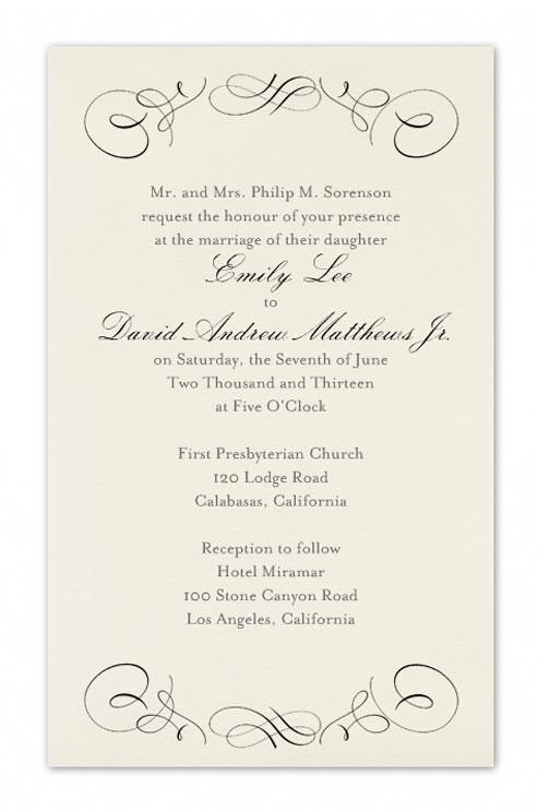 correct wedding invitation wording 041548712