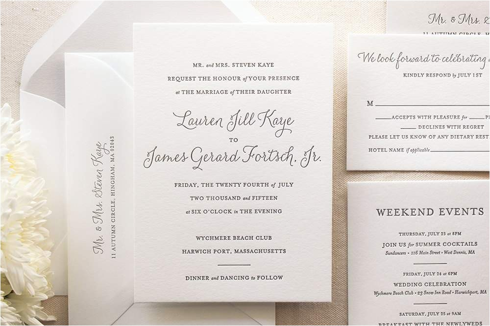 proper wedding invitation wording