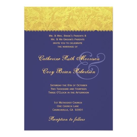 purple and yellow damask wedding invitation r436 161819684870275981
