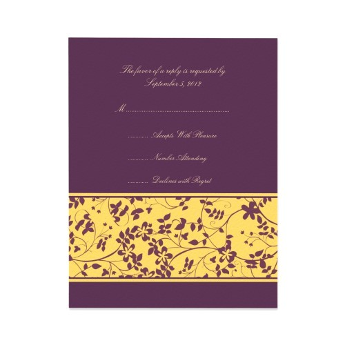 your wedding colors yellow and purple
