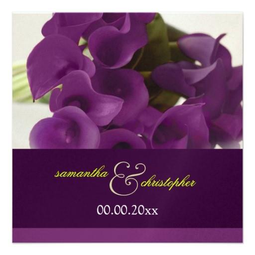pixdezines purple calla lily wedding invitations 161424592506008524