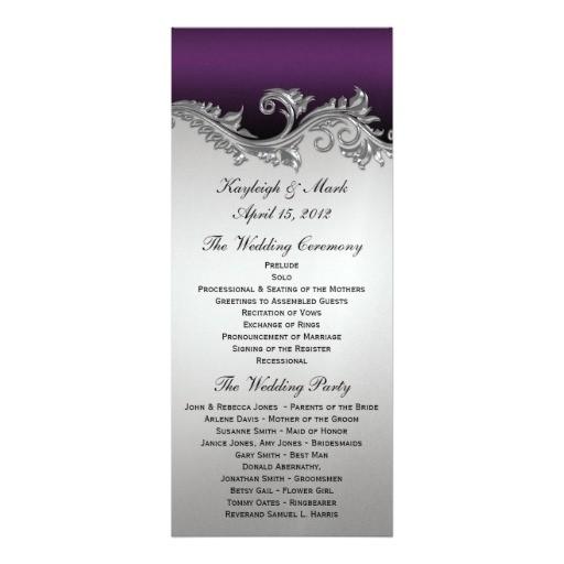purple and silver vintage invitations