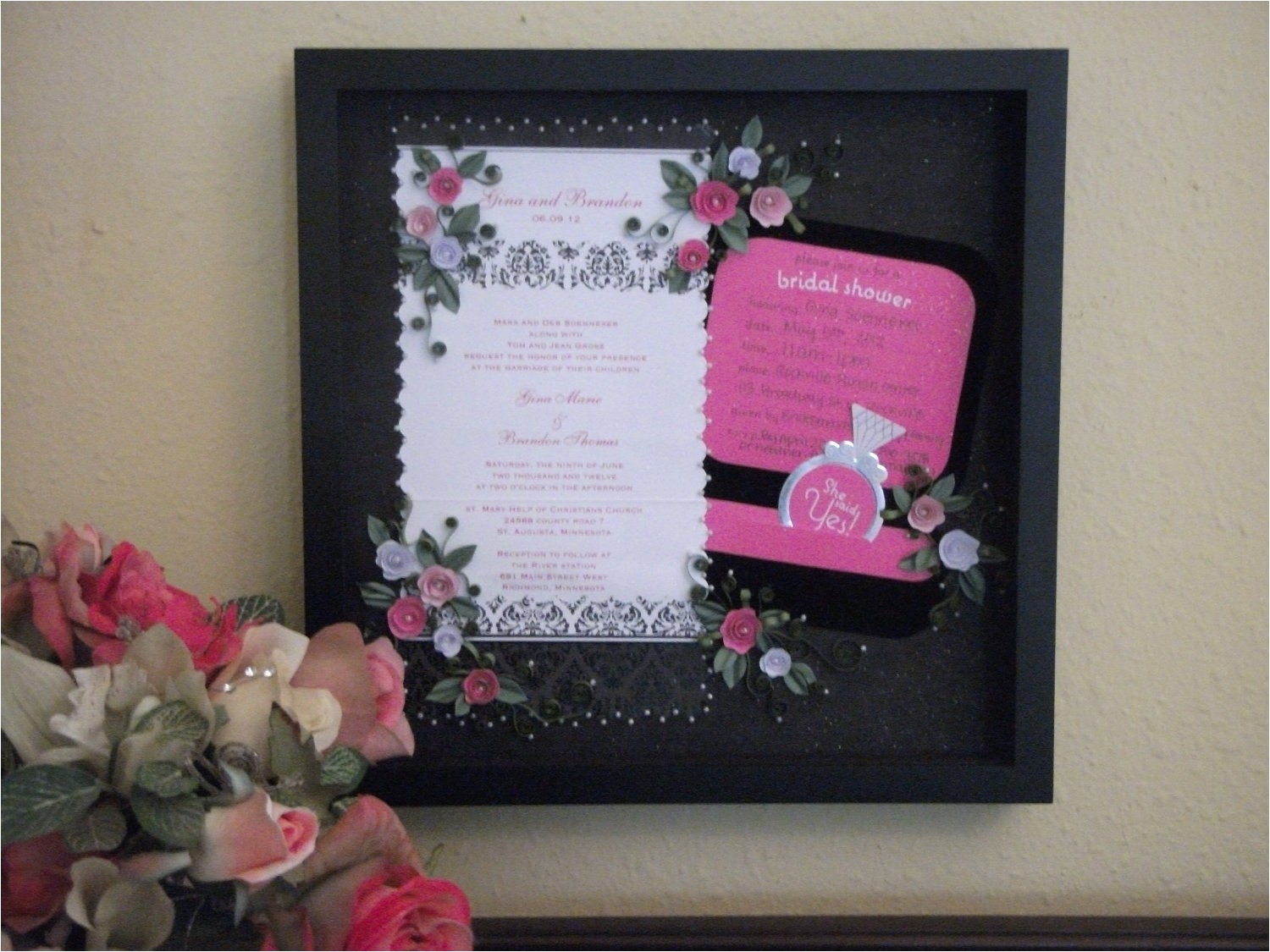 quilled wedding invitation keepsake