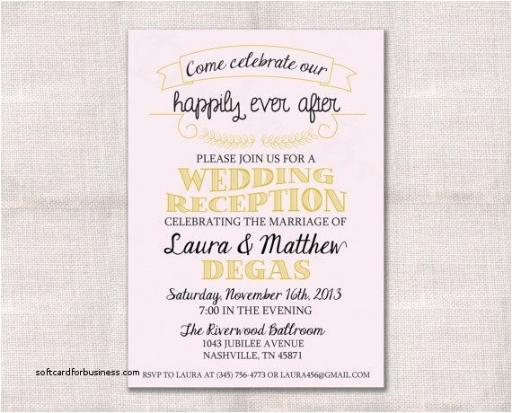 reception invitations only