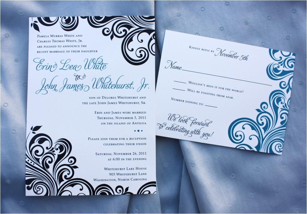 invitation wording reception after destination wedding