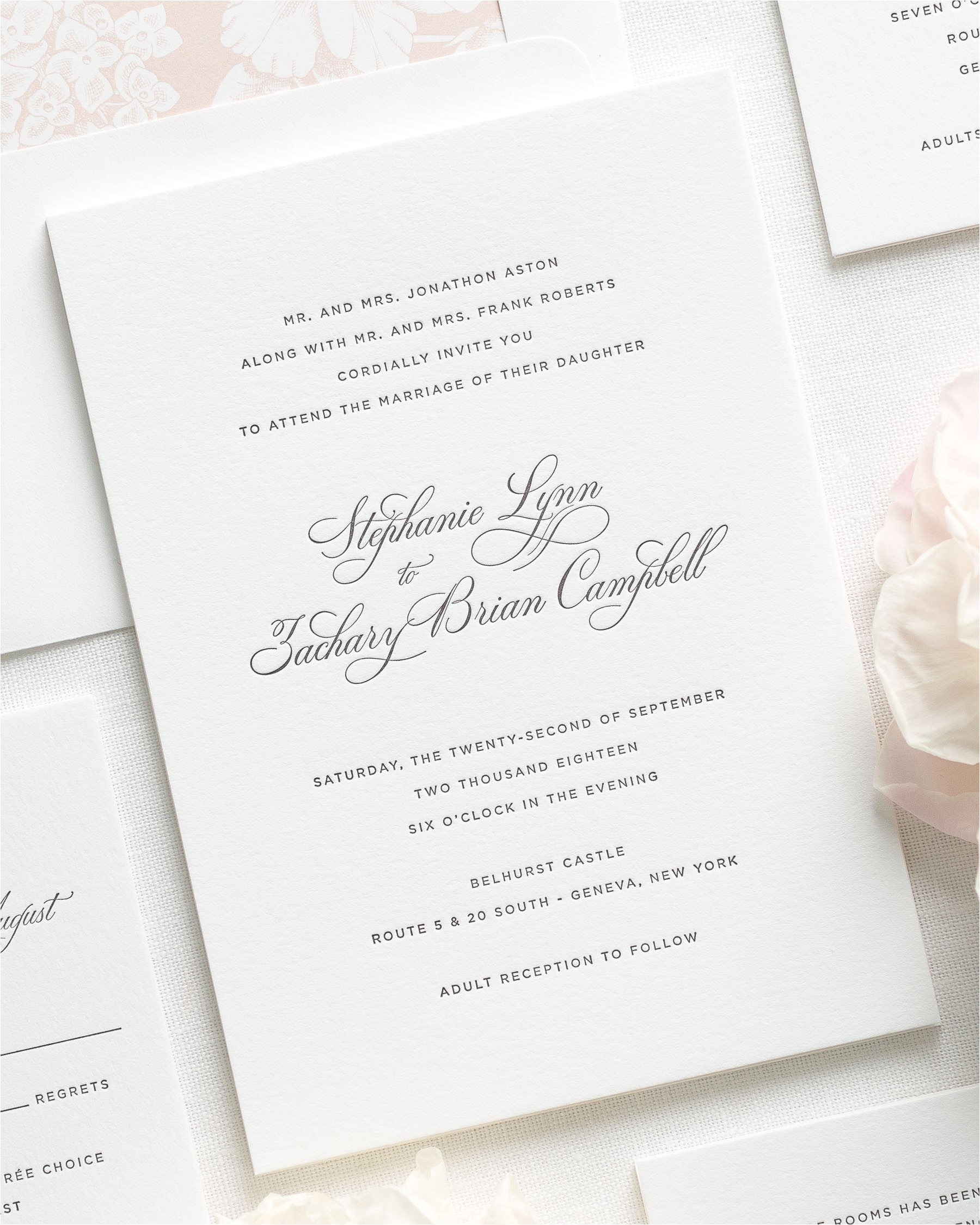 wedding invitation wording for reception to follow