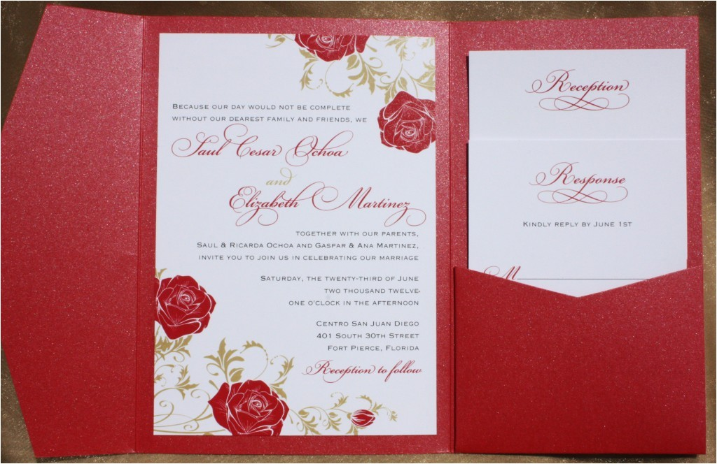red rose wedding invitations with catchy wedding invitation templates as a result of an application using a felicitous concept 16