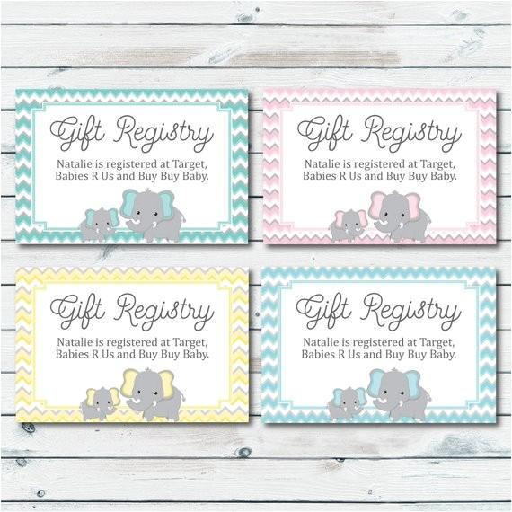baby registry cards registry inserts