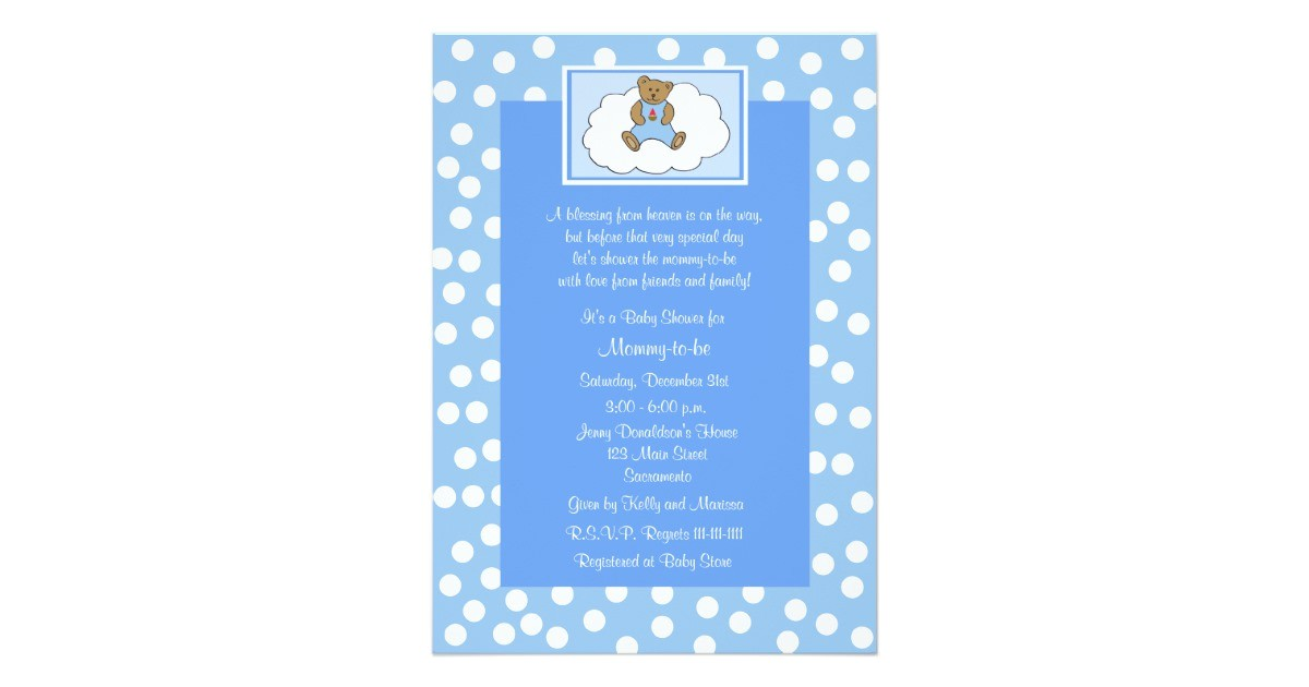 christian religious baby shower invitation blue 161724543689181099