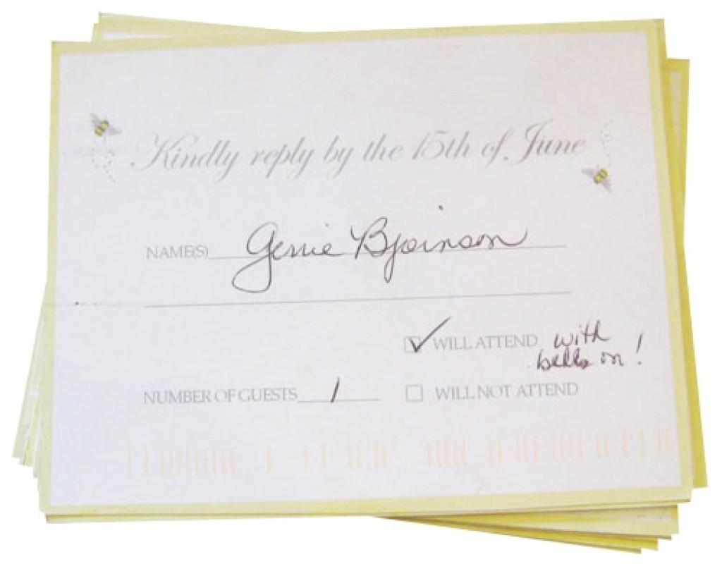 lovable wedding response card wording ideas