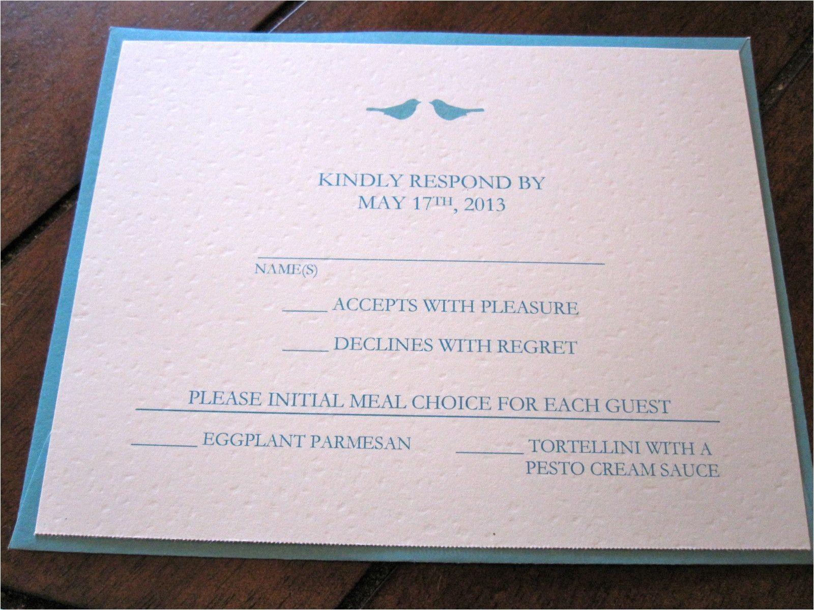 wedding invitation response card wording funny