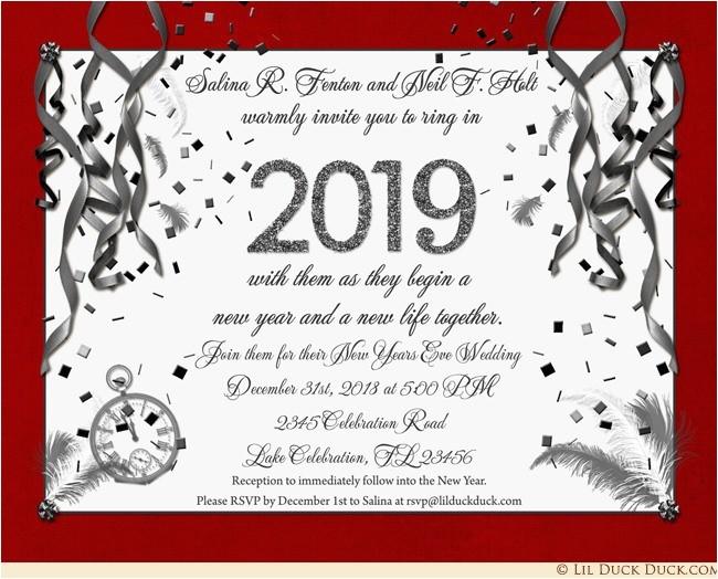 new year 2018 invitation wording
