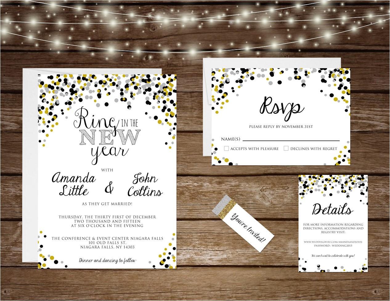 printable new years eve wedding