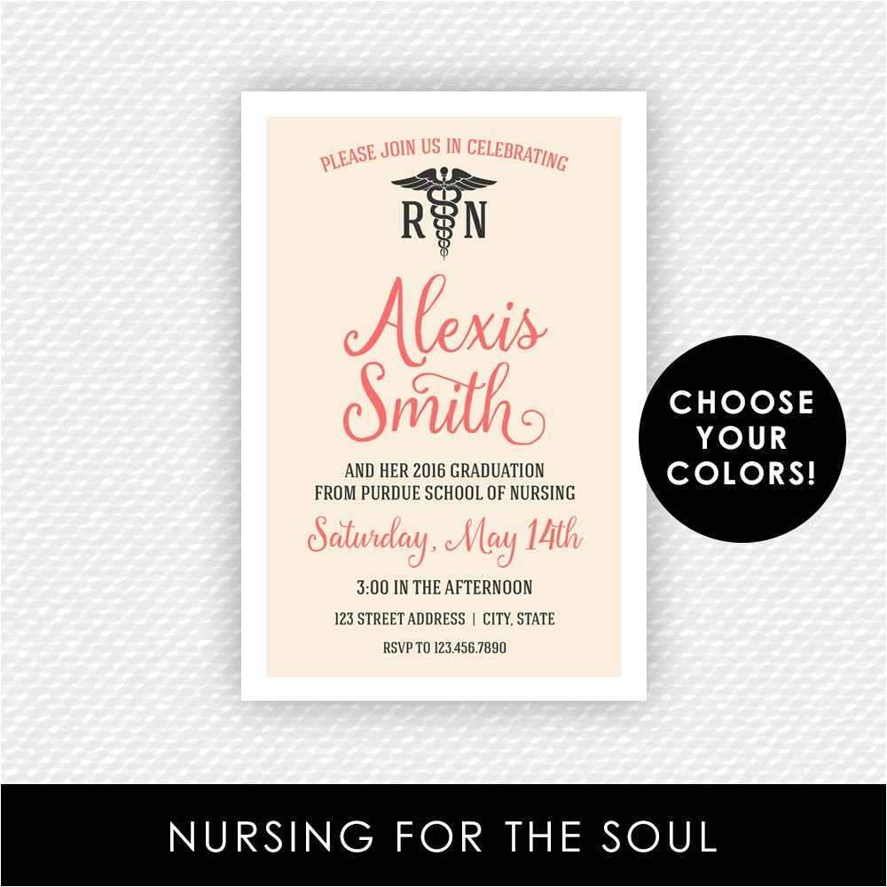 nurse invitation nurse graduation