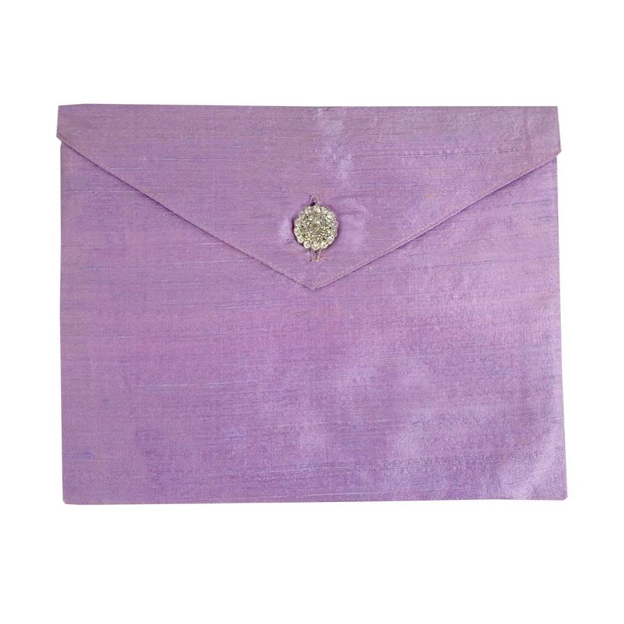lavender dupioni silk invitation envelope the luxury wedding envelope for your invitation cards