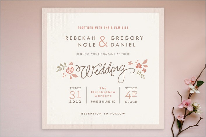 romantic wedding invitation matter