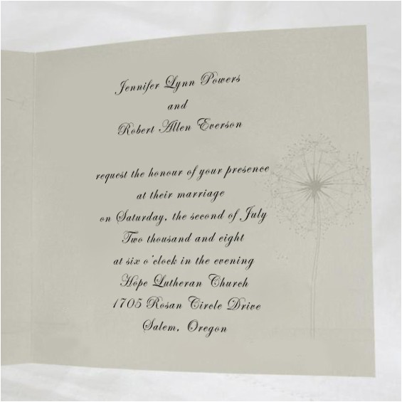 romantic words in wedding invitation