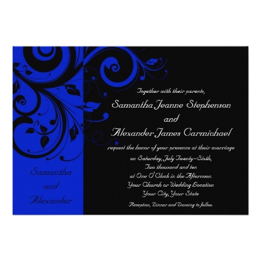 royal blue and black wedding invitations shtml