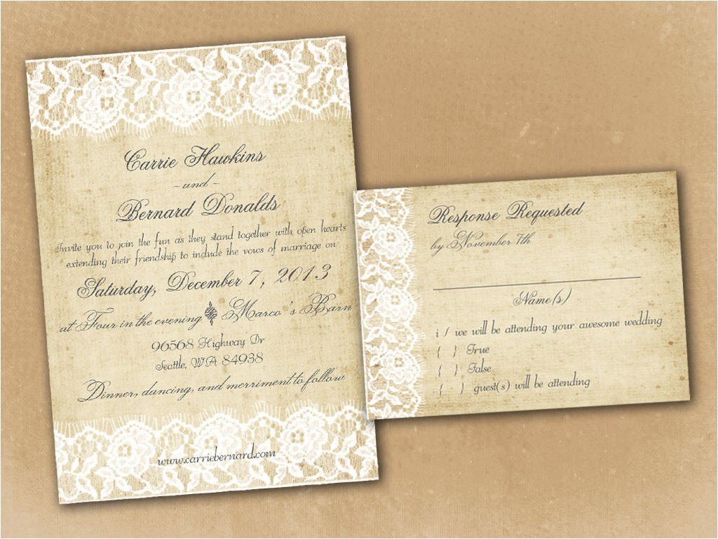 etsy rustic wedding invitations