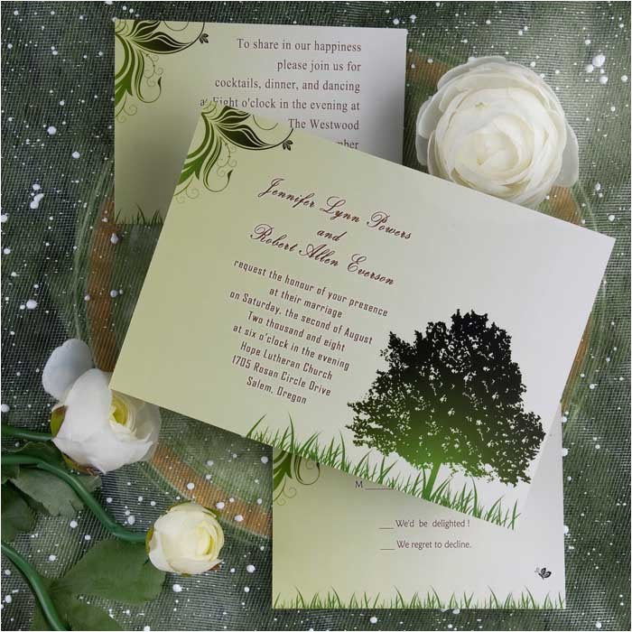 green wedding invitations c 1 2 8