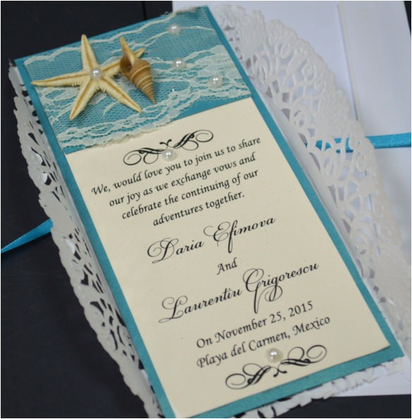 sample beach wedding invitation