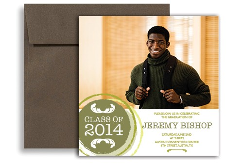 word template modern highschool graduation announcement sample gi 1125