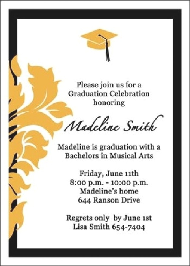 invitation card graduation ceremony