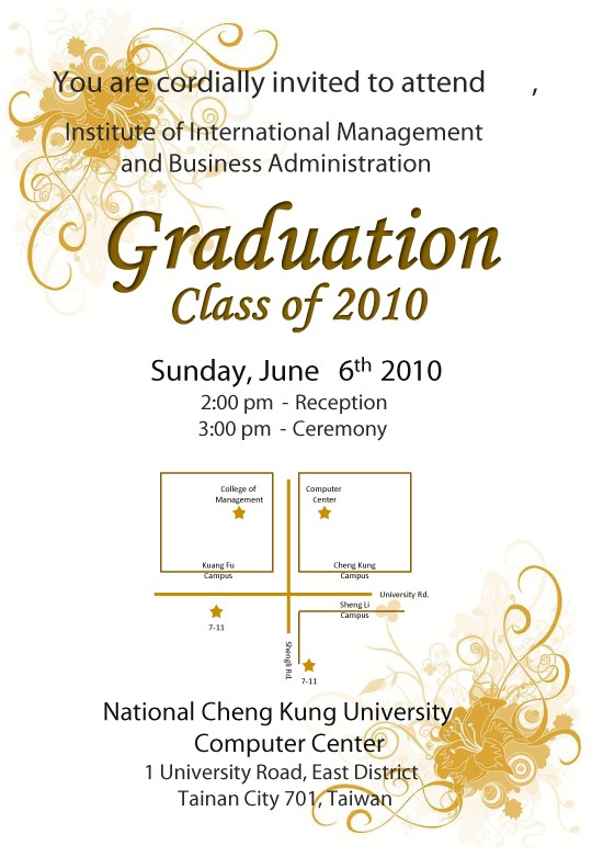 invite advisor to graduation ceremony