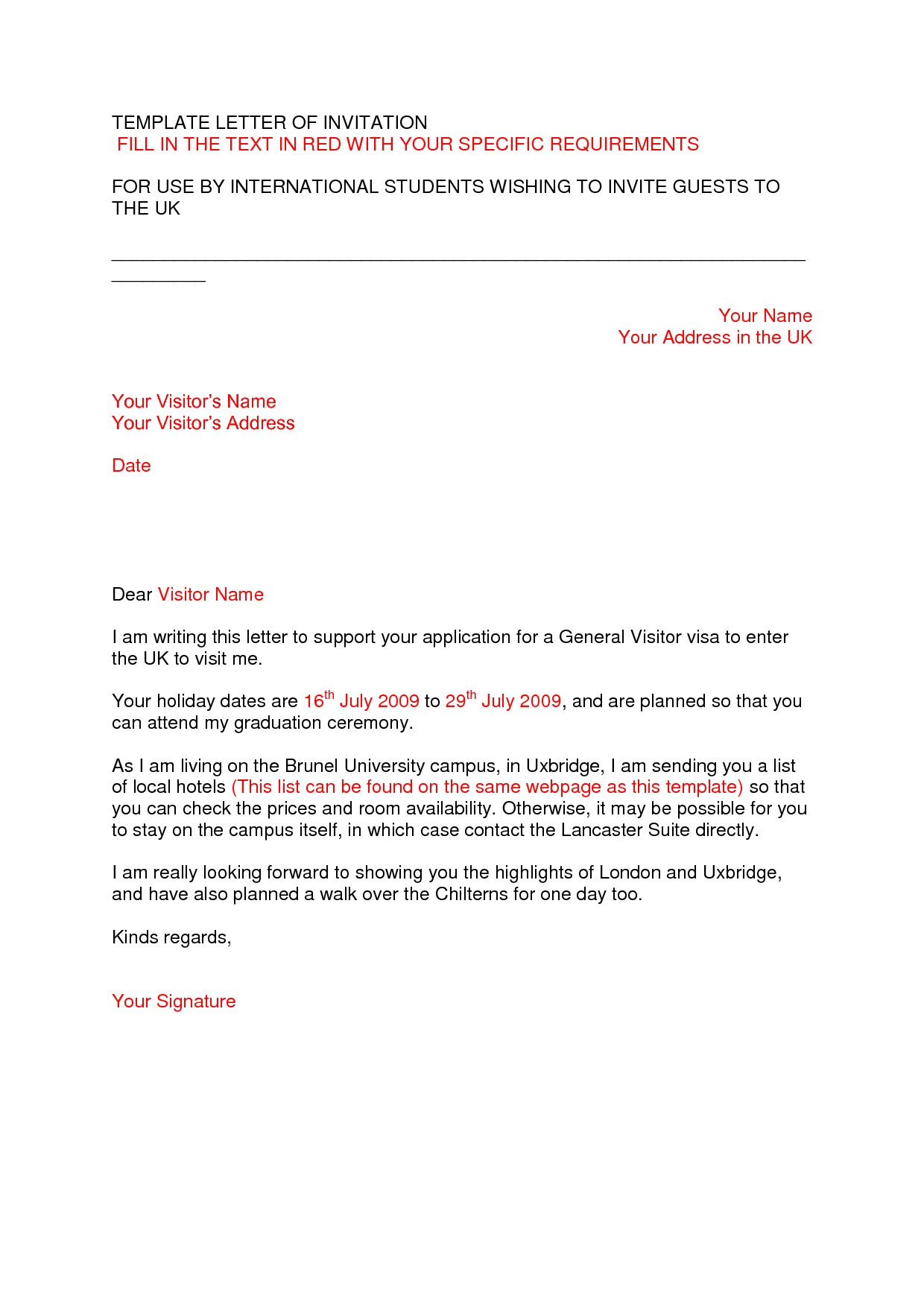 sample graduation invitation letter
