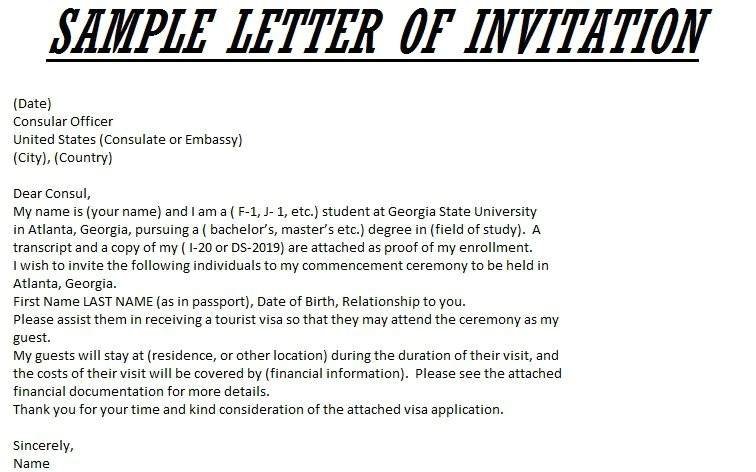 sample invitation letter for commencement guest speaker