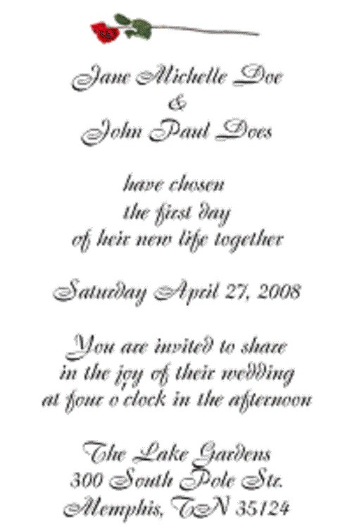 wedding invitation wording full of pray and hope