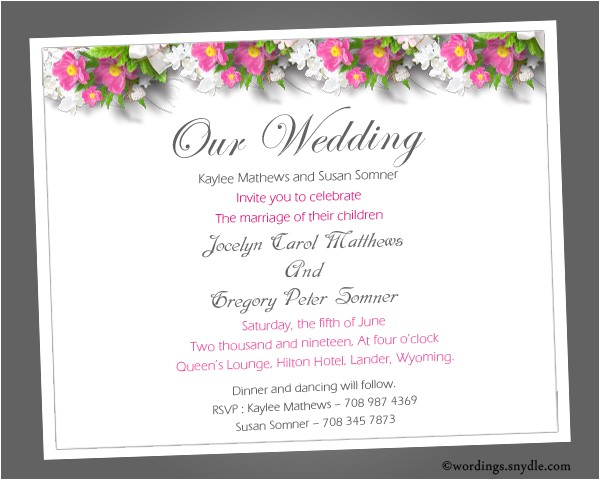 informal wedding invitation wording