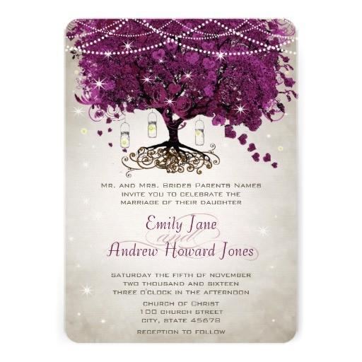 mason jar sangria heart leaf firefly tree wedding invitation 161816214577316924