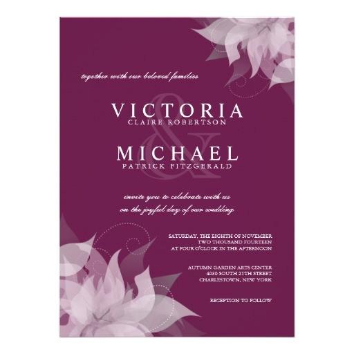 sangria grape floral wedding invitations 161997472538581838