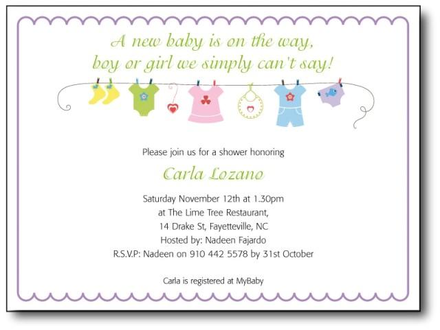 baby shower invitation wording template