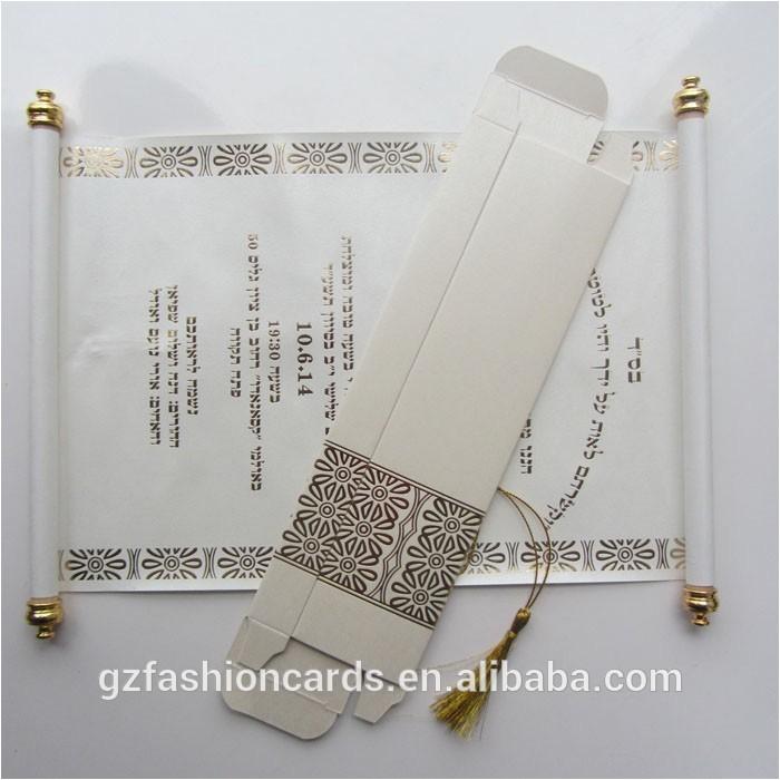 2015 wholesale luxury wedding box scroll invitation