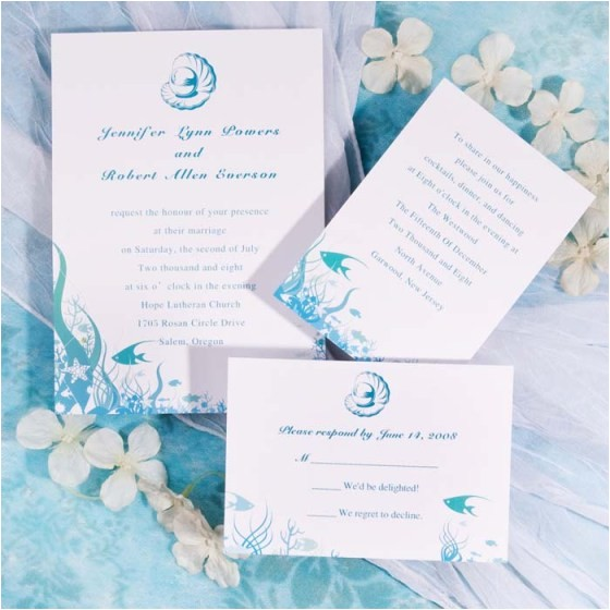 Sea themed Wedding Invitations 31 Days Of Weddings Day 30 Under the Sea theme All