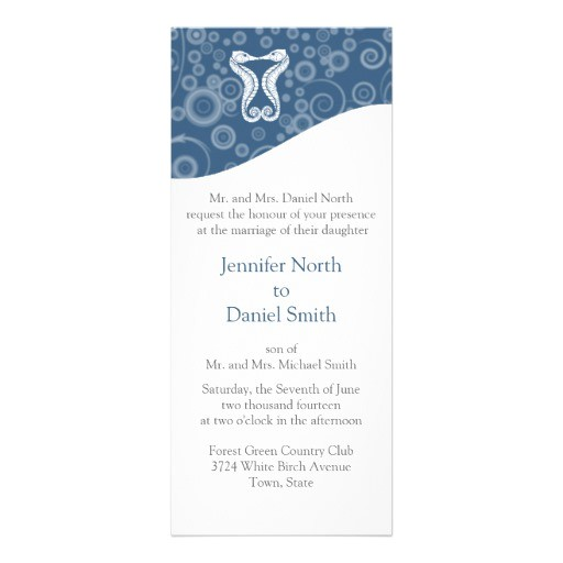 ocean theme wedding inviations template invitation 161850142052285897