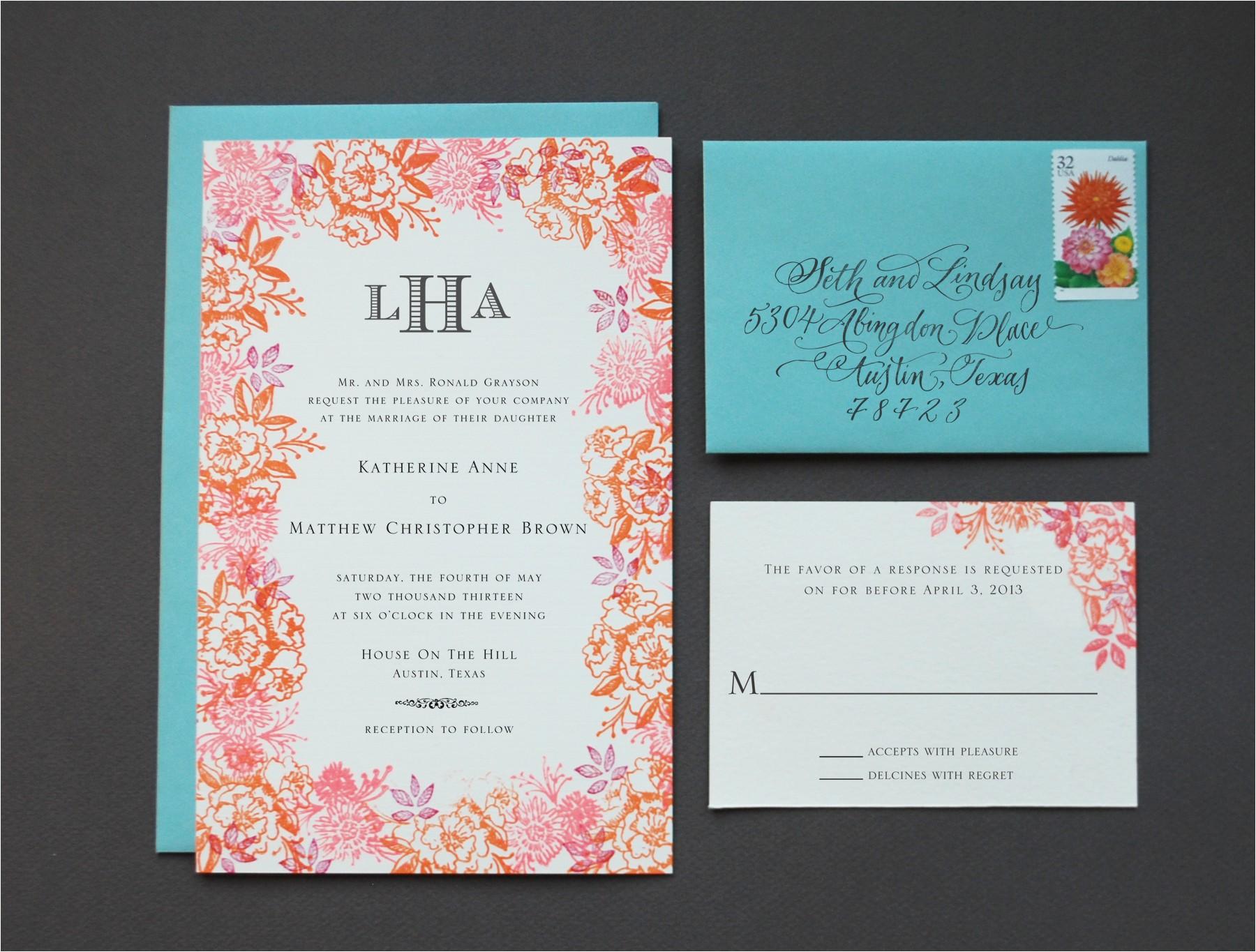 chic diy wedding invitations diy rubber stamp floral weddi