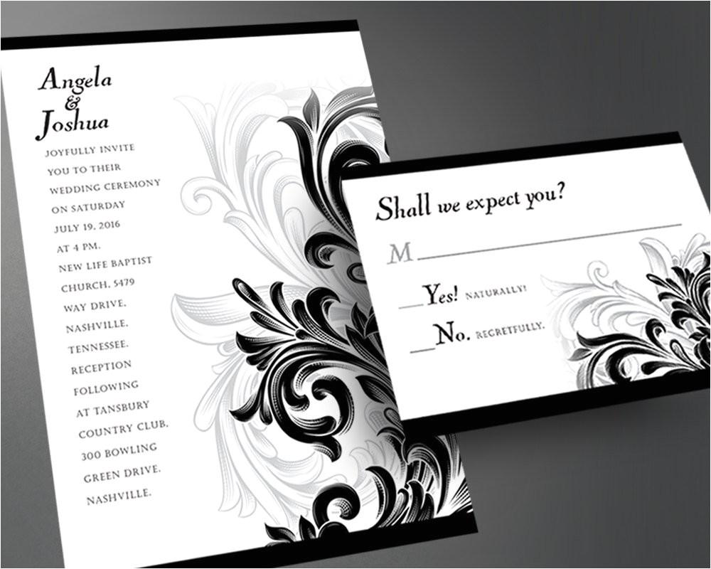 wedding invitation pdf printable wedding