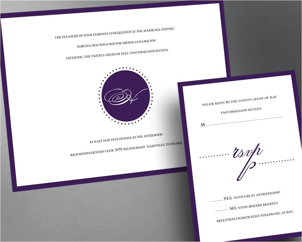 wedding invitation pdf printable wedding invitation diy wedding invitations monogram wedding invites digital self print elegant invites 2