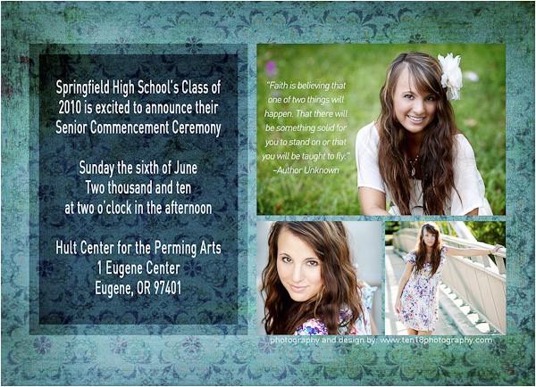 graduation announcements senior photos