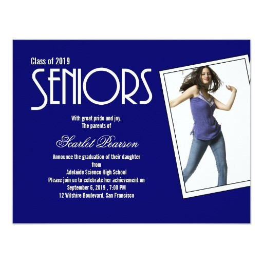 high school seniors graduation party invitation 161453199804388654
